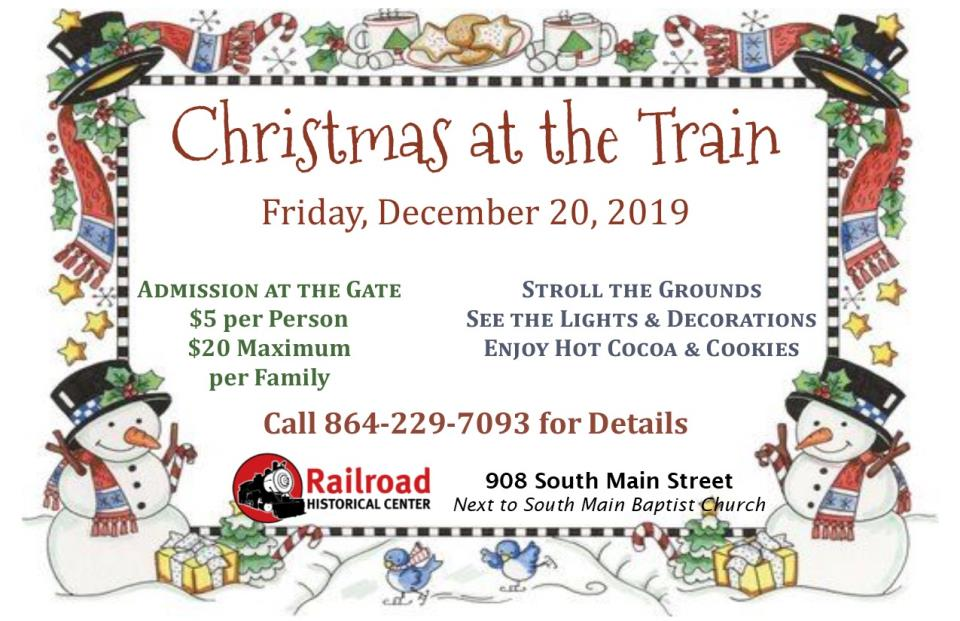Christmas at the Train website graphic